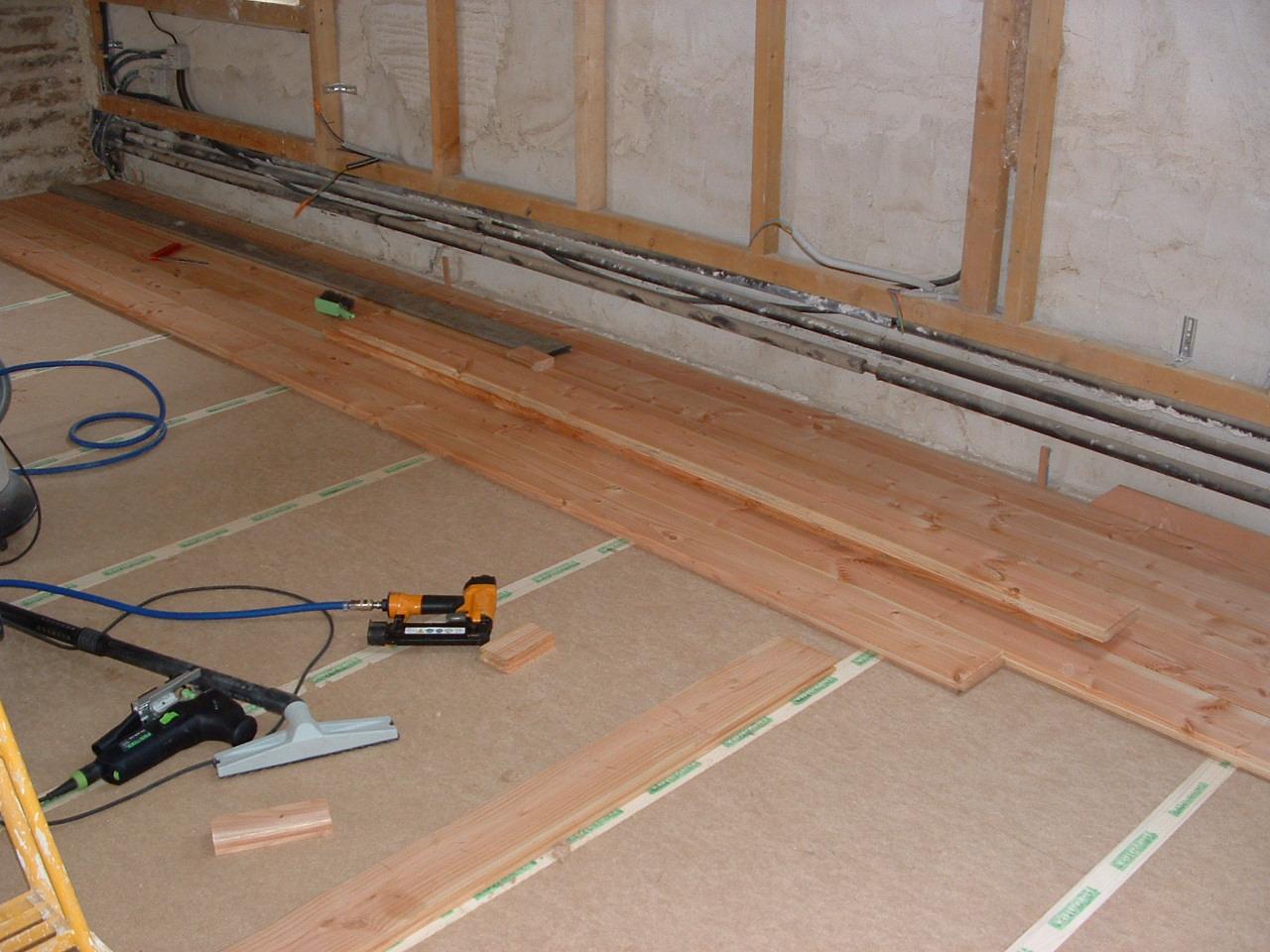 Renovation plancher bois images for Plancher pour comble